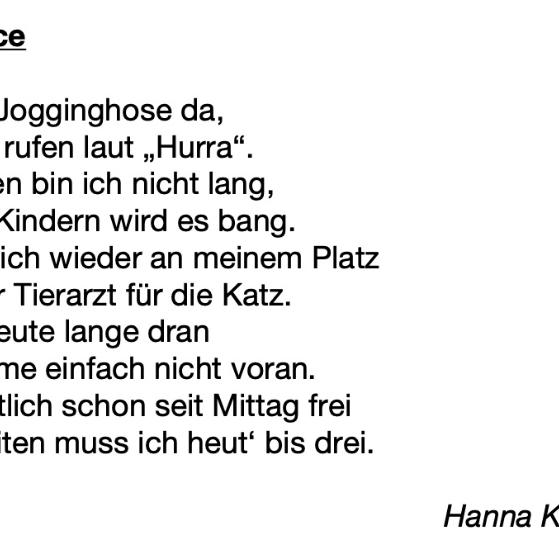 Homeoffice Gedicht