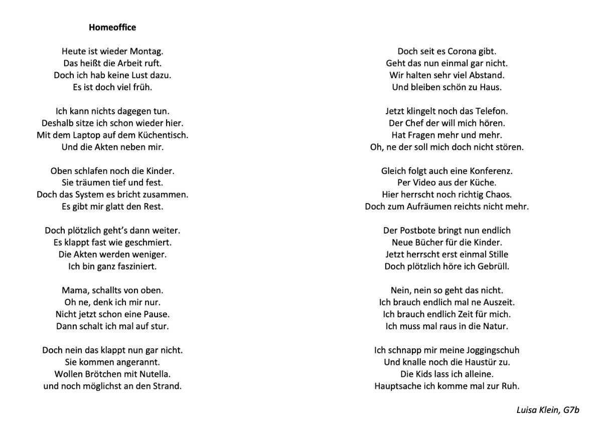 Mich bitte gedicht allein lass nicht LASS MICH
